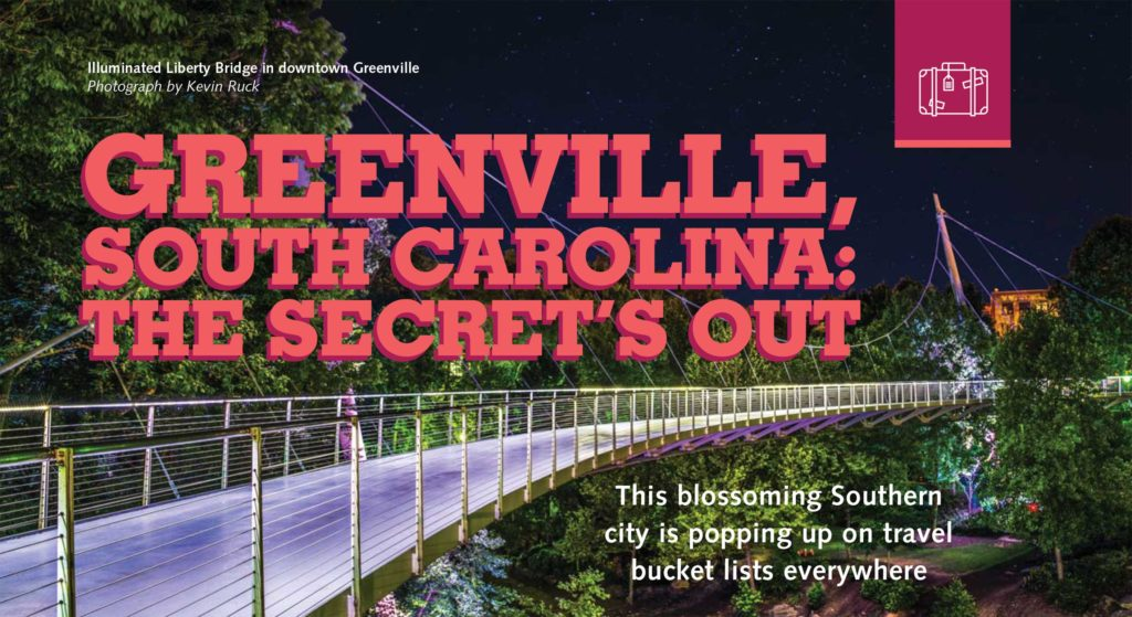 Boomer Magazine features Greenville, South Carolina and The Brewery Experience